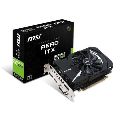 Видеокарта MSI GeForce GTX1050 2048Mb AERO ITX OC (GTX 1050 AERO ITX 2G OCV1)