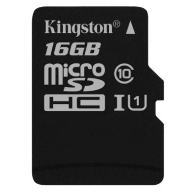 Карта памяти Kingston 16GB microSDHC class 10 UHS-I Canvas Select (SDCS/16GBSP)