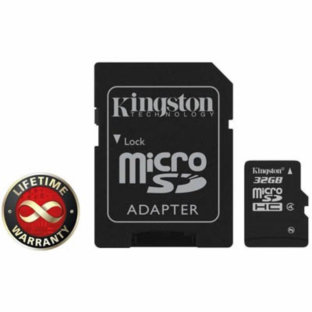 Карта памяти Kingston 32Gb microSDHC class 4 (SDC4/32GB)