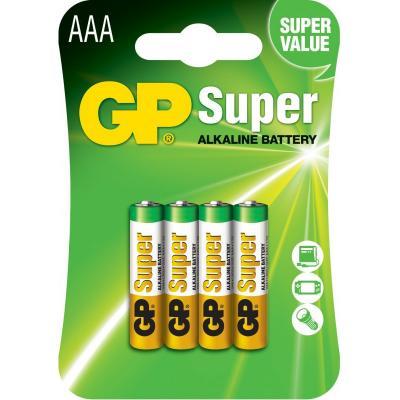 Батарейка AAA LR3 alcaline * 4 GP (24A-U4/24A-2UE4)