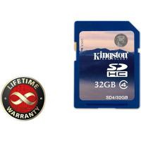 Карта памяти 32Gb SDHC class 4 Kingston (SD4/32GB)