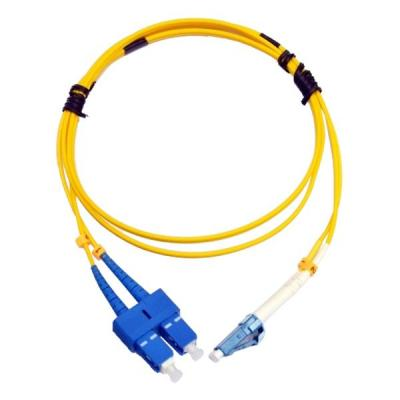 Оптический патчкорд Cor-X SC/UPC-LC/UPC SingleMode, Duplex, 2m (UPC-2SCLC(SM)D(ON))