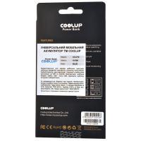 Батарея универсальная CoolUp CU-V10 10000mAh Blue (BAT-CU-V10-BE)