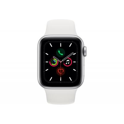 Смарт-часы Apple Watch Series 5 GPS, 44mm Silver Aluminium Case with White Sp (MWVD2UL/A)