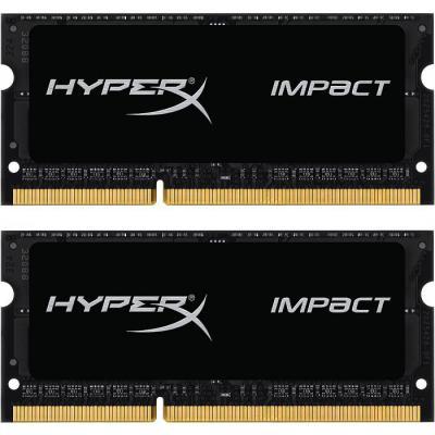 Модуль памяти для ноутбука SoDIMM DDR3 8GB (2x4GB) 1600 MHz HyperX Impact Kingston (HX316LS9IBK2/8)