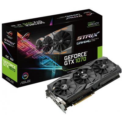 Видеокарта ASUS GeForce GTX1070 8192Mb ROG STRIX (STRIX-GTX1070-8G-GAMING)