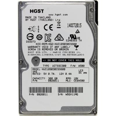Жесткий диск для сервера 300GB WDC Hitachi HGST (0B26011 / HUC109030CSS600)