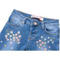 Джинсы Breeze джинсовые с цветочками (OZ-17703-98G-jeans)
