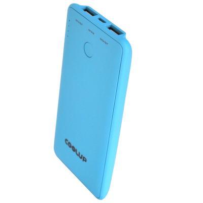 Батарея универсальная CoolUp CU-V8 6000mAh Blue (BAT-CU-V8-BE)
