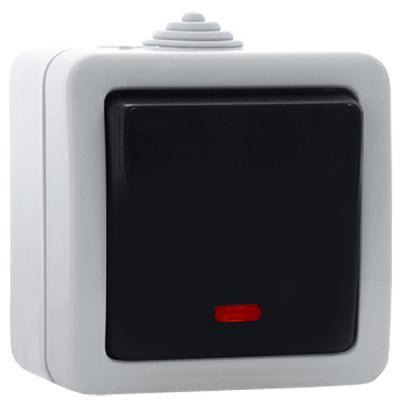 Электроустановочное изделие REAL-EL Выключатель одинарный с индикатором (Storm-72011L)