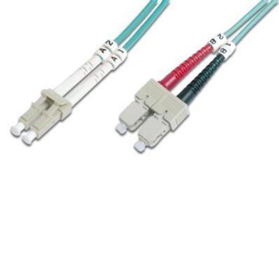 Оптический патчкорд DIGITUS LC/UPC-SC/UPC,50/125,OM3,duplex,2m (DK-2532-02/3)