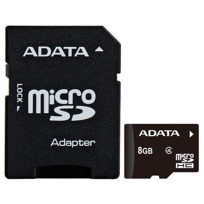 Карта памяти ADATA 8GB microSD class 4 (AUSDH8GCL4-RA1)