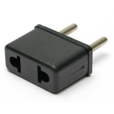 Переходник PowerPlant сетевой 220В EU/US черный (DV00DV0022)