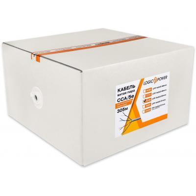 Кабель сетевой LogicPower UTP 305м cat.5e КВП(4*2*0,50)[CCA] (4049)