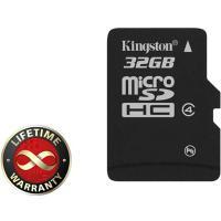 Карта пам'яті Kingston 32Gb microSDHC class 4 (SDC4/32GBSP)