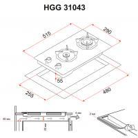 Варочная поверхность PERFELLI HGG 31043 BL