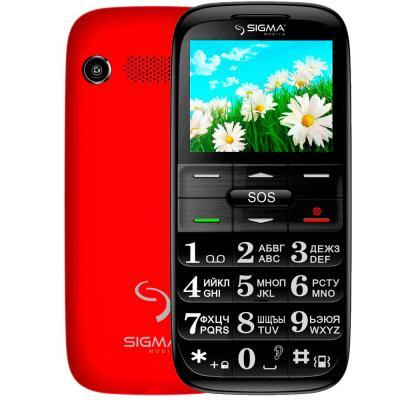 Мобильный телефон Sigma Comfort 50 Slim Red-Black (4304210212175)