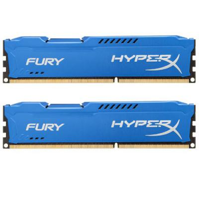 Модуль памяти для компьютера DDR3 8Gb (2x4GB) 1600 MHz HyperX Fury Blu Kingston (HX316C10FK2/8)