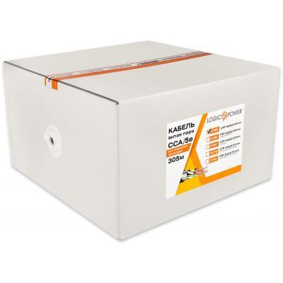 Кабель сетевой LogicPower UTP 305м cat.5e КВП(4*2*0,51)[CCA] (2180)