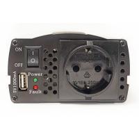 Адаптер автомобильный 12V/220V PowerPlant HYM300-122, 300W, + USB 5V 1A (KD00MS0001)
