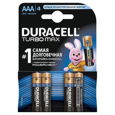 Батарейка Duracell AAA TURBO MAX LR03 * 4 (81368088)