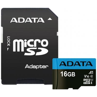 Карта памяти ADATA 16GB microSD class 10 UHS-I A1 Premier (AUSDH16GUICL10A1-RA1)