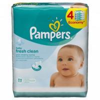 Влажные салфетки Pampers Fresh Clean 4х64 шт (4015400622734)