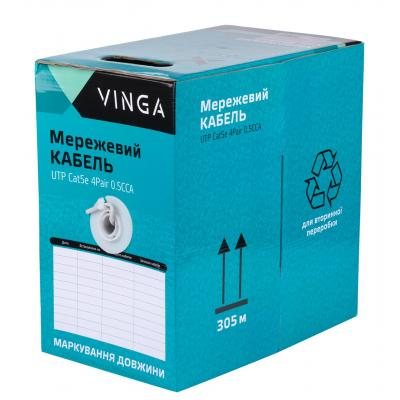 Кабель сетевой Vinga UTPCat5e4Pair0.5CCA-305 4 пары (UTPCat5e4Pair0.5CCA-305)