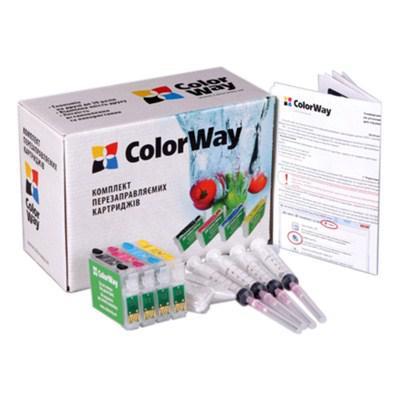 Комплект перезаправляемых картриджей ColorWay Epson C91/T26 (без чрнил) (T26RC-0.0)