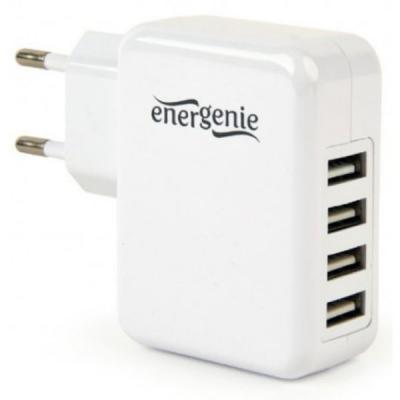 Зарядное устройство EnerGenie 4 USB, 3.1A (EG-U4AC-02)