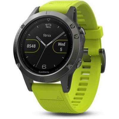 Смарт-часы Garmin Fenix 5 Slate Gray with Yellow Band (010-01688-02)