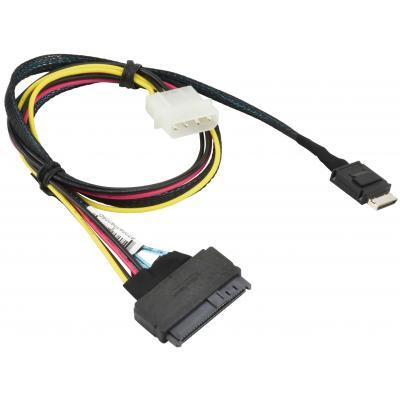 Кабель для передачи данных OCuLink SFF-8611 to U.2 SFF-8639 with Power Cable 55cm Supermicro (CBL-SAST-0956)
