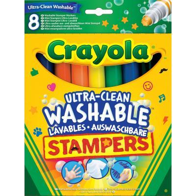 Набор для творчества Crayola 8 легко смываемых фломастеров-штампов (58-8129)
