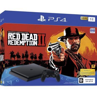 Игровая консоль SONY PlayStation 4 Slim 1Tb Black (+Red Dead Redemption 2) (9760016)