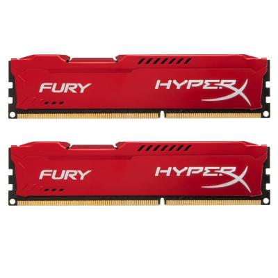 Модуль памяти для компьютера DDR3 8Gb (2x4GB) 1600 MHz HyperX Fury Red Kingston (HX316C10FRK2/8)