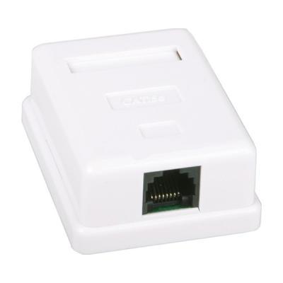 Компьютерная розетка 1xRJ45 UTP 5e (LP-212) LogicPower (2303)
