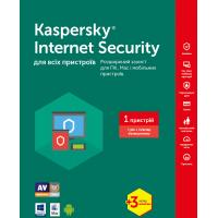 Антивірус Kaspersky Internet Security 2017 Multi-Device 1 ПК 1год+3мес Base Box (KL1941OUABS17)