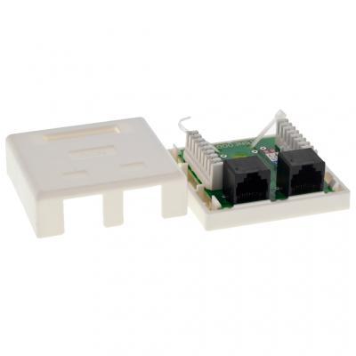 Компьютерная розетка 2xRJ45 UTP 5e (LP-214) LogicPower (2304)