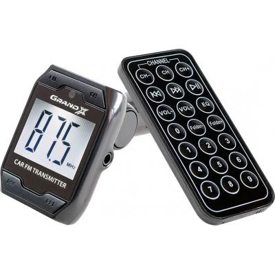 Автомобильный MP3-FM модулятор Grand-X CUFM71GRX black SD/USB (CUFM71GRX)