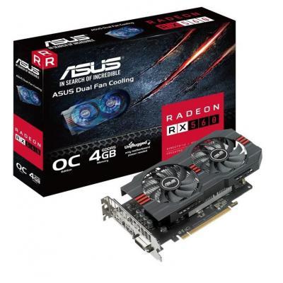 Видеокарта ASUS Radeon RX 560 4096Mb OC EVO (RX560-O4G-EVO)