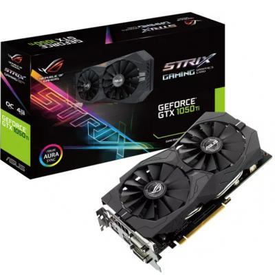 Видеокарта ASUS GeForce GTX1050 Ti 4096Mb ROG STRIX OC (STRIX-GTX1050TI-O4G-G)