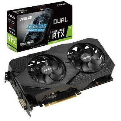 Видеокарта ASUS GeForce RTX2060 6144Mb DUAL Advanced EVO (DUAL-RTX2060-A6G-EVO)