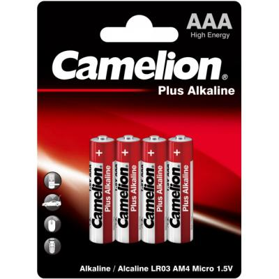 Батарейка Camelion AAA LR03 Plus Alkaline * 4 (LR03-BP4)