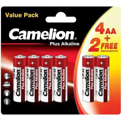 Батарейка Camelion AA LR6 Plus Alkaline * (4+2) (LR6-BP(4+2))