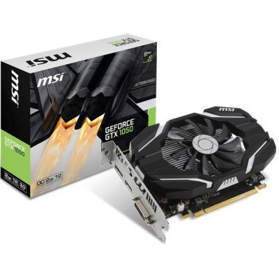 Видеокарта MSI GeForce GTX1050 2048Mb OC (GTX 1050 2G OC)