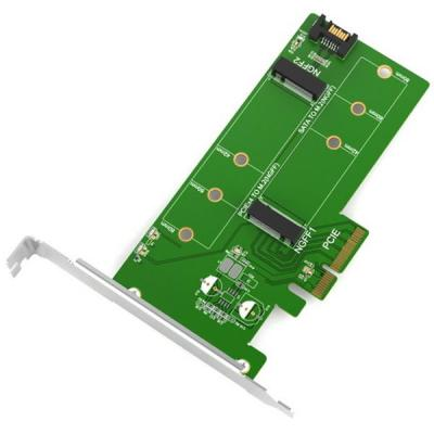 Контролер Maiwo Multi-Size PCIex4 & SATA to M.2 (M-Key or B-key) SSD (45774)