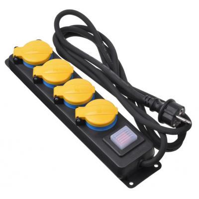 Сетевой фильтр питания 2E 4xSchuko ІР44 (2E-U04ESPM3)