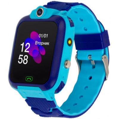 Смарт-часы ATRIX iQ2400 IPS Cam Flash Blue Детские телефон-часы с трекером (iQ2400 Blue)