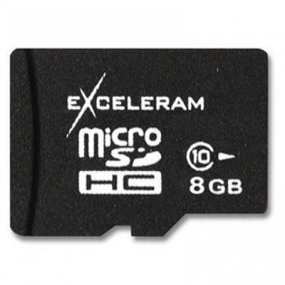 Карта памяти eXceleram 8Gb microSDHC class 10 без адаптера (MSD0810VA)