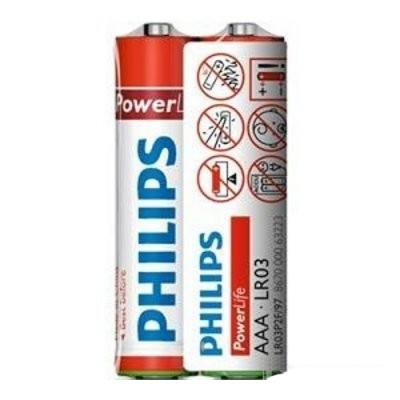 Батарейка PHILIPS LR03 PHILIPS PowerLife P2F * 2 (LR03P2F/97)